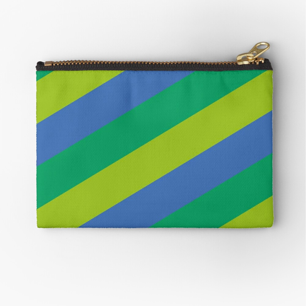 Simplee Stripes: Design 3 of 9 Zipper Pouch