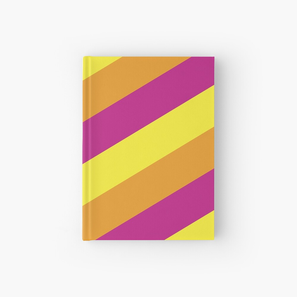 Simplee Stripes: Design 7 of 9 Hardcover Journal