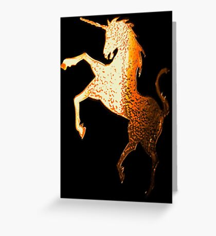 Golden Unicorn Greeting Card