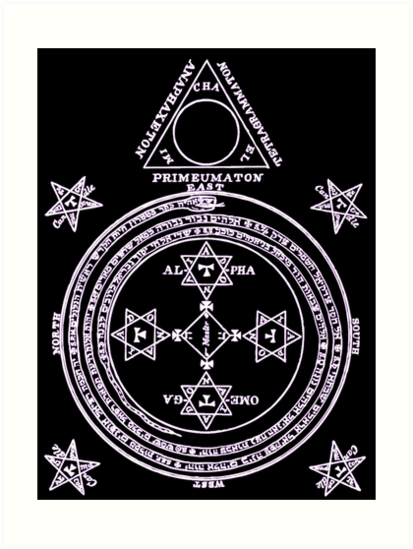 Magical Circle Of King Solomon Inverted Art Prints By Djhypnotixx