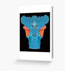 psychedelic  3D  Robot Greeting Card