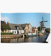 A little village in Friesland Poster