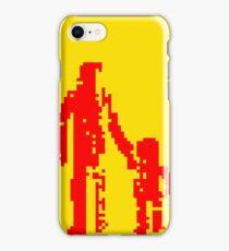 1 bit pixel pedestrians (red) iPhone Case/Skin