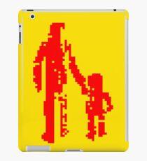 1 bit pixel pedestrians (red) iPad Case/Skin