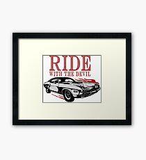 Ride With The Devil Gerahmtes Wandbild