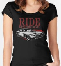 Ride With The Devil Tailliertes Rundhals-Shirt