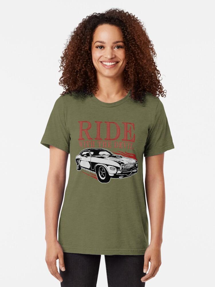 Alternative Ansicht von Ride With The Devil Vintage T-Shirt
