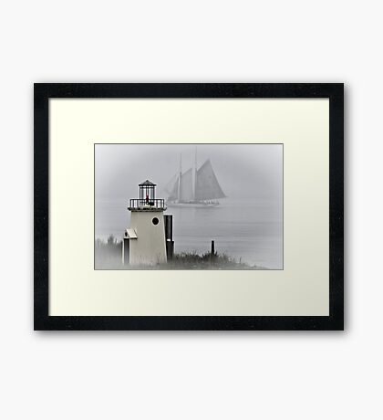 Misty Adventure Framed Print