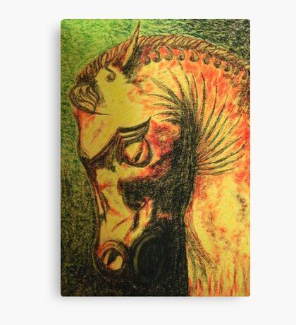 Ancient Persian Horse Head Canvas Print