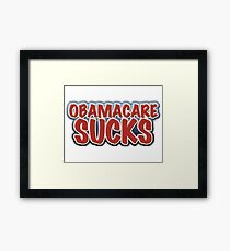 Obamacare Sucks Framed Print