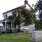 Old House and Cemetery by raindancerwoman