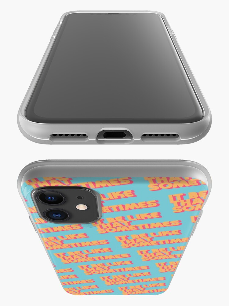 Alternate view of It Be Like That Sometimes Retro Blue iPhone Case & Cover