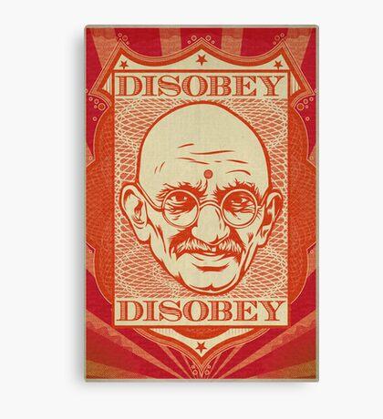 Mahatma Gandhi: Disobey Poster Canvas Print