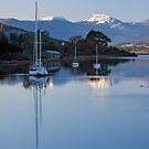 Boats on the Huon River, Franklin, Tasmania #2 by Chris Cobern
