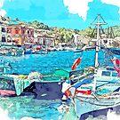«Puerto de Gaios, Paxos, Grecia» de John Novis