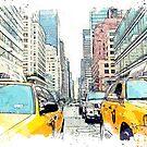 «Taxis amarillos, Nueva York» de John Novis