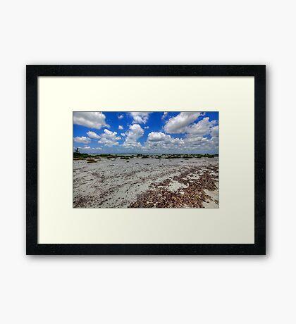 Cozumel, Mexico - Lonely Beach Framed Print