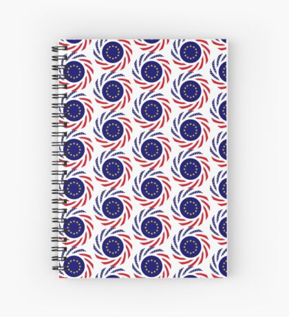 European American Multinational Patriot Flag Series Spiral Notebook