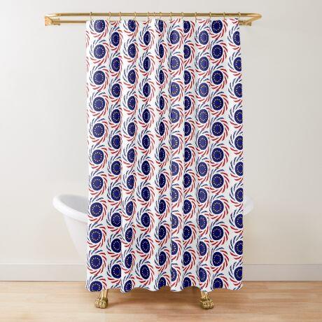 European American Multinational Patriot Flag Series Shower Curtain