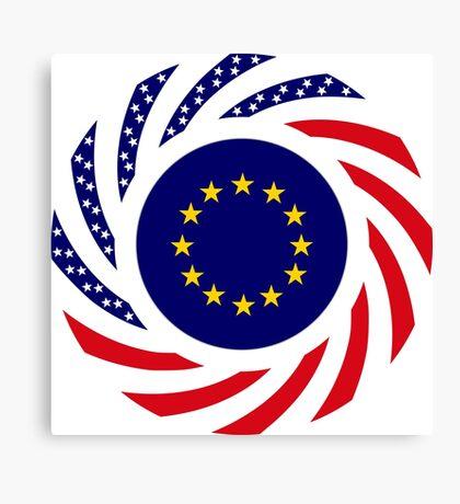 European American Multinational Patriot Flag Series Canvas Print