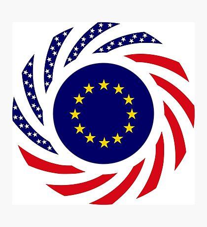 European American Multinational Patriot Flag Series Photographic Print