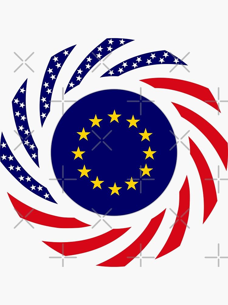 European American Multinational Patriot Flag Series by carbonfibreme