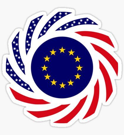 European American Multinational Patriot Flag Series Sticker