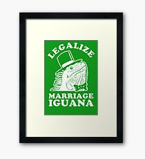 Legalize Marriage Iguana Framed Print