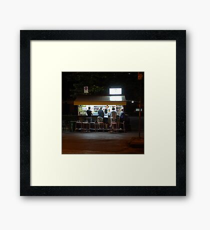 Late Supper - Florence Framed Print