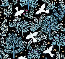 white birds garden by daolinh