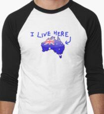 Australiana - I Live Here T-Shirt Men's Baseball ¾ T-Shirt