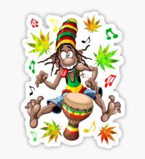 Rasta Bongo Musician funny cool character Sticker