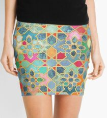 Gilt & Glory - Colorful Moroccan Mosaic Mini Skirt