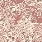 Rose Gold Floral Doodles by julieerindesign