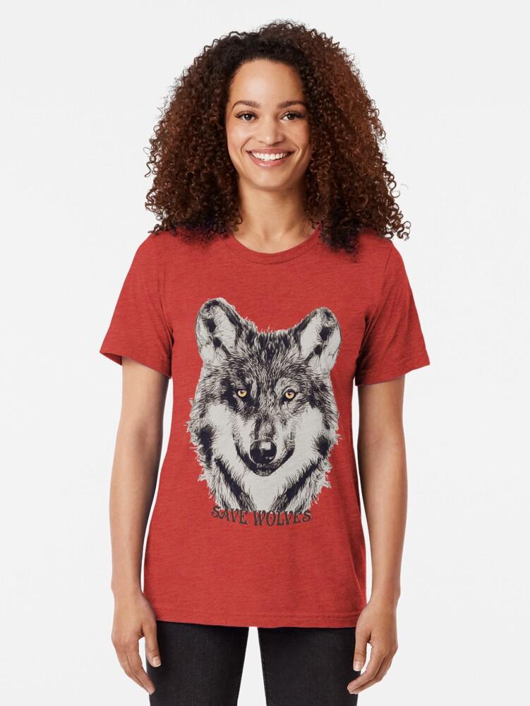 Alternative Ansicht von SAVE WOLVES Vintage T-Shirt
