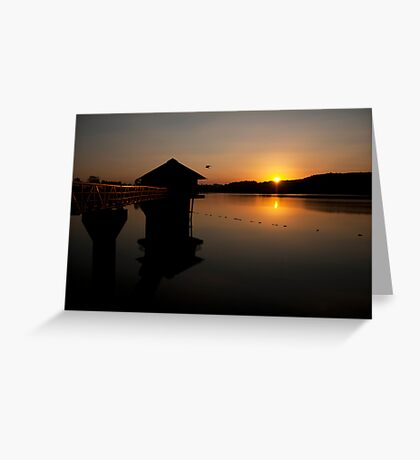 Sunset at  Cropston Reseviour  Greeting Card
