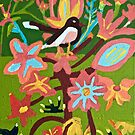 Bird on a Flower Zionart Zion Levy Stewart by zionart