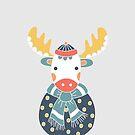 Friendly Moose by Glynnis Owen