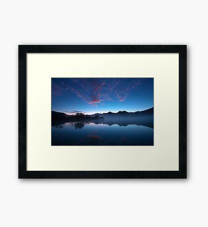 Blue Dawn, Kinloch NZ Framed Print