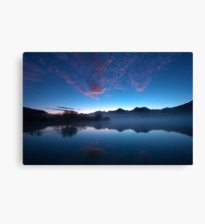 Blue Dawn, Kinloch NZ Canvas Print