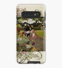 "Vintage Art from ""A little garden calendar for boys and girls"" book Case/Skin for Samsung Galaxy"