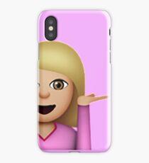Blond Hair Toss Emoji iPhone Case/Skin