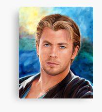 Chris Hemsworth Art Canvas Print