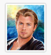 Chris Hemsworth Art Sticker