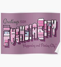 Greetings from Fuchsia City Poster