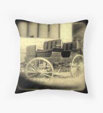 Wagon in sepia w/soft focus Throw Pillow