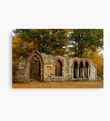 Ruins among the leaves Canvas Print