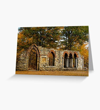 Ruins among the leaves Greeting Card