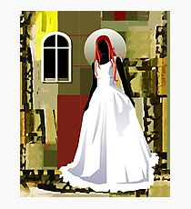 The wedding woman	 Photographic Print