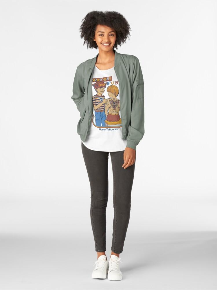 Alternate view of Rainy Day Fun Premium Scoop T-Shirt
